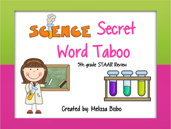 **Updated 4/13** Class Favorite! Looking for an engaging way to review science vocabulary words? Look no further than this science secret word game! Played as a whole class game, students try to get their team members to guess science vocabulary words without saying forbidden words.