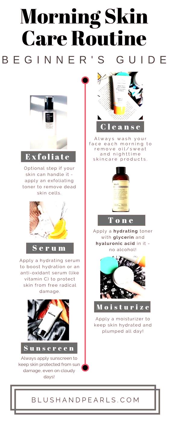 Easy Morning Skin Care Routine In 2020 Morning Skin Care Routine Skin Care Routine Oily Skin Care Routine