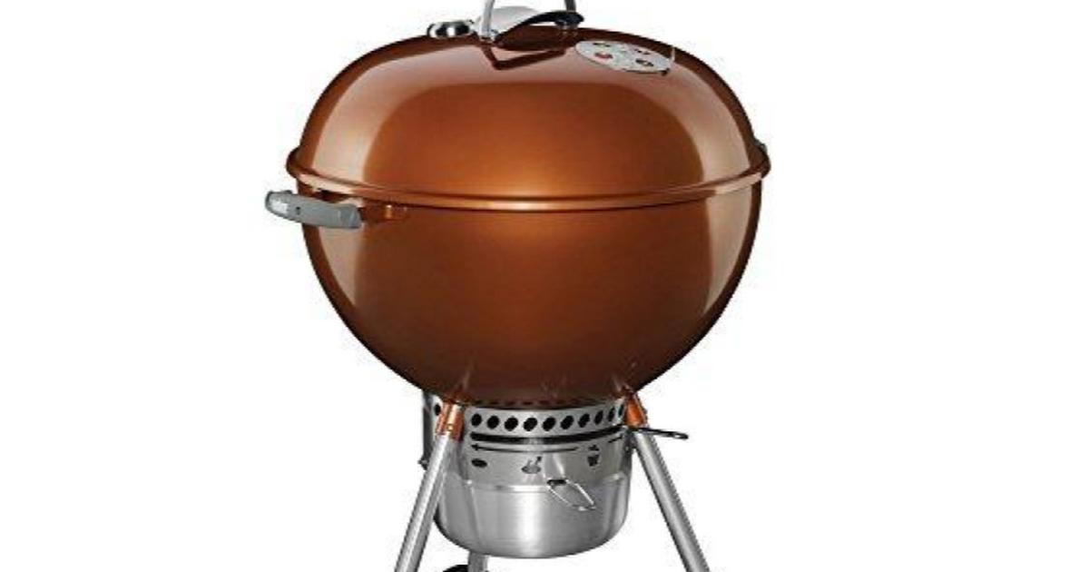 Weber 14402001 Original Kettle Premium Charcoal Grill 22 Inch Copper Grilldemon Charcoal Grill Grilling Barbecue Gift