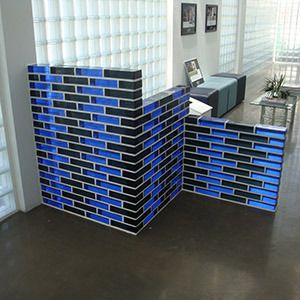 Are these Glass Blocks: Blue and Black? Call Eastern Glass Block for the  answer