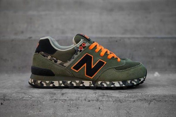 2b3bb0ffcd2cd Joes New Balance ML574CGR Army Green Black Orange Military Camo Mens Shoes