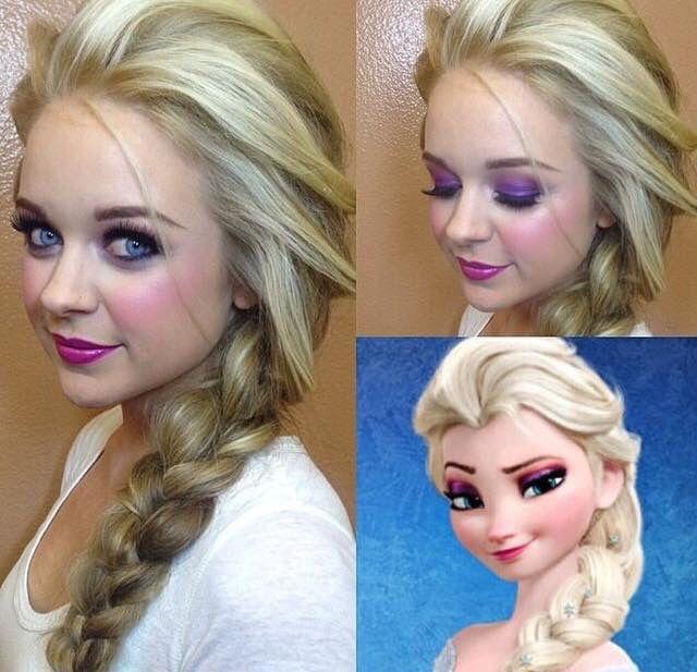 elsa makeup hair frozen