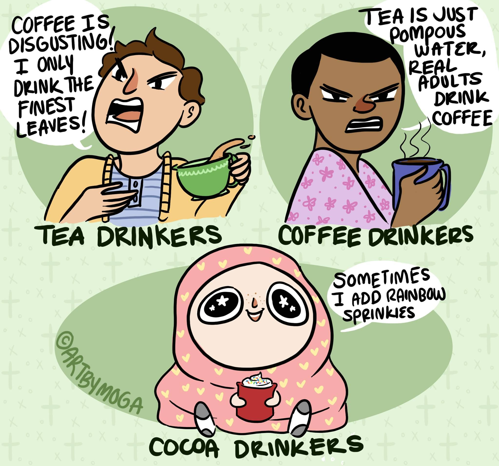 Photo of One thing coffee and tea drinkers can agree on… cocoa drinkers are plebs.