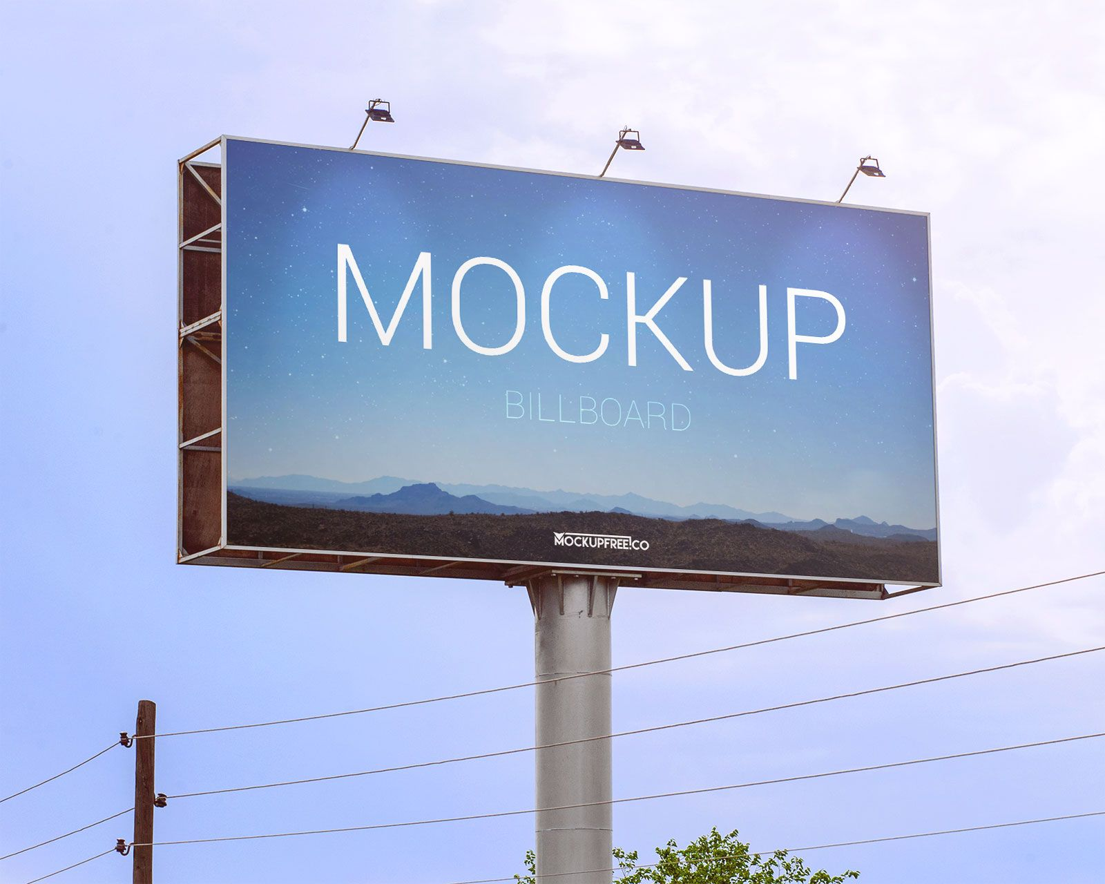 Download Outdoor Billboard Mockup Psd Free Download Yellowimages