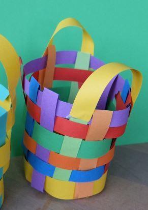 Papier mandje knutselen papier
