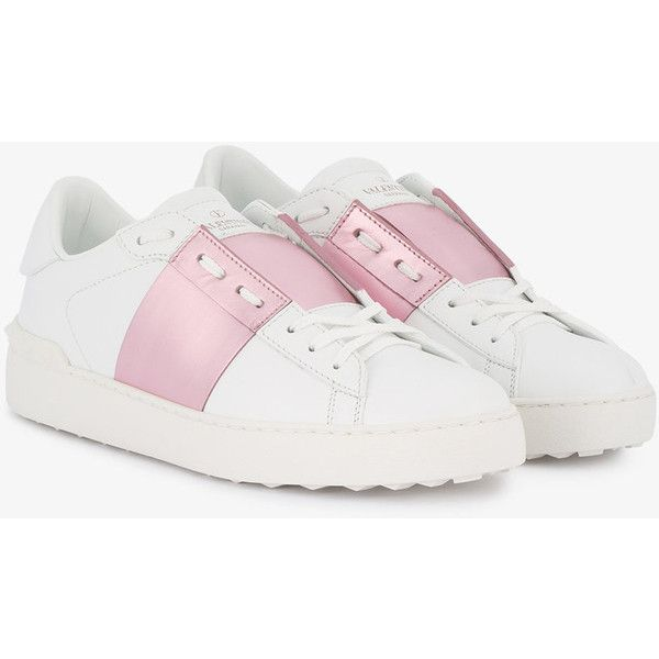separation shoes 03121 98cb1 Sneakers White Valentino Pink Open Metallic 500 IZxx1dw