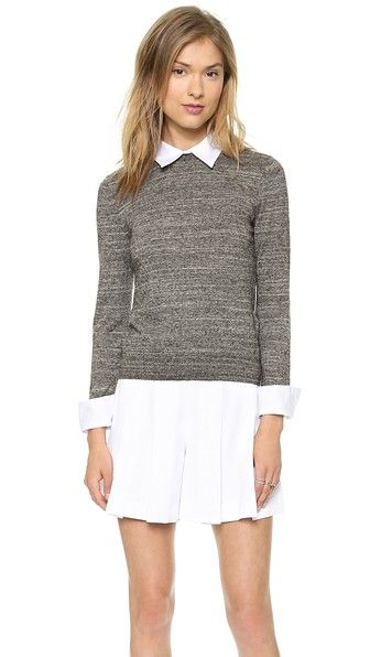 6031f8c546b050 Warm but not too cozy. The perfect sweater weight. alice + olivia Fitted  Collar Sweater