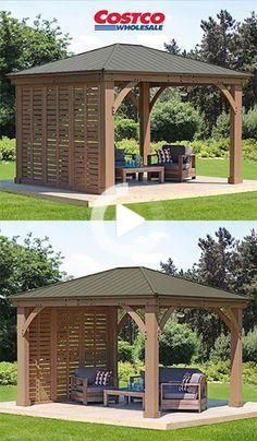 12 Gazebo Privacy Wall In 2020 Outdoor Pergola Pergola Backyard Gazebo