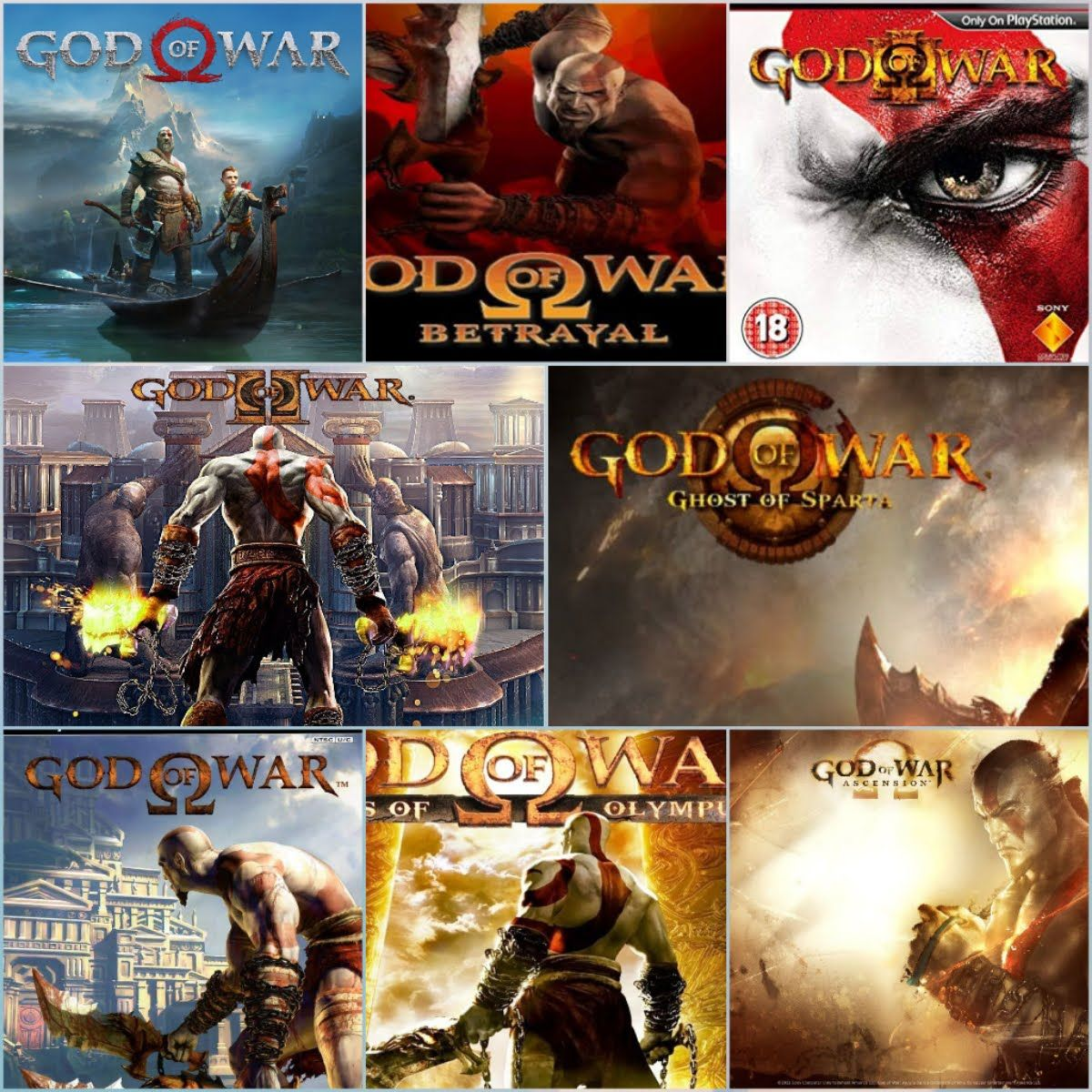 I finished the whole saga of God of war!, Ascension, Chains of