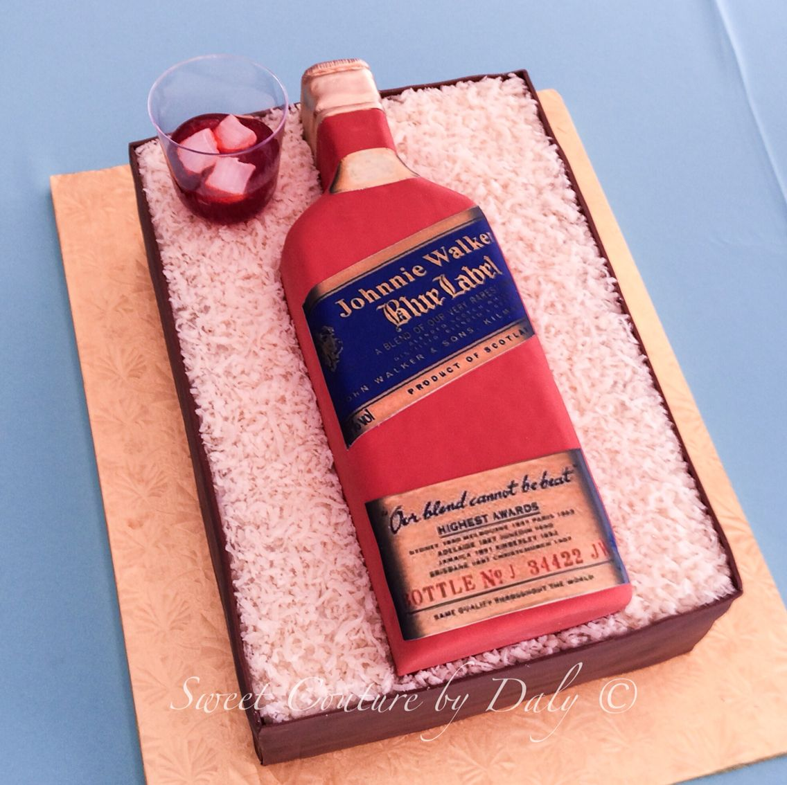 Johnnie Walker Blue Label Cake Bottle Cakes Pinterest Cake