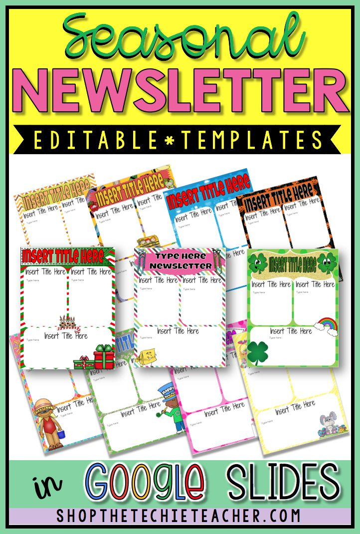 Go Digital With These Newsletter Template That Can Be Edited In Google Slides Digital Newsletter Templates Newsletter Templates Editable Newsletter Templates