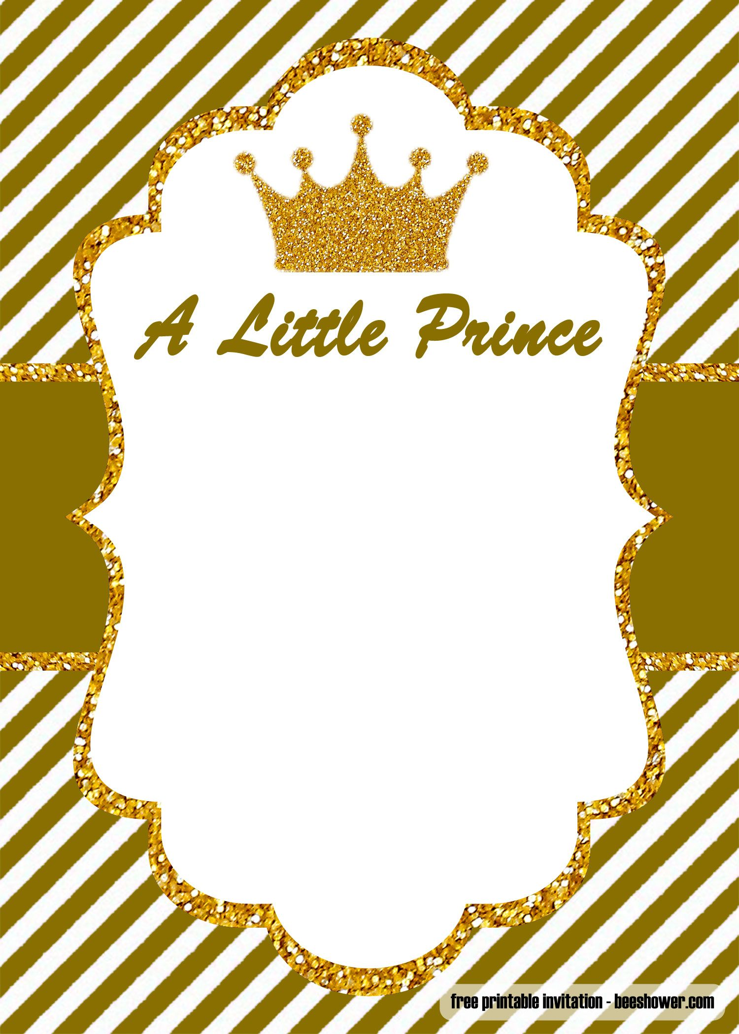 Download FREE Little Prince Baby Shower Invitations