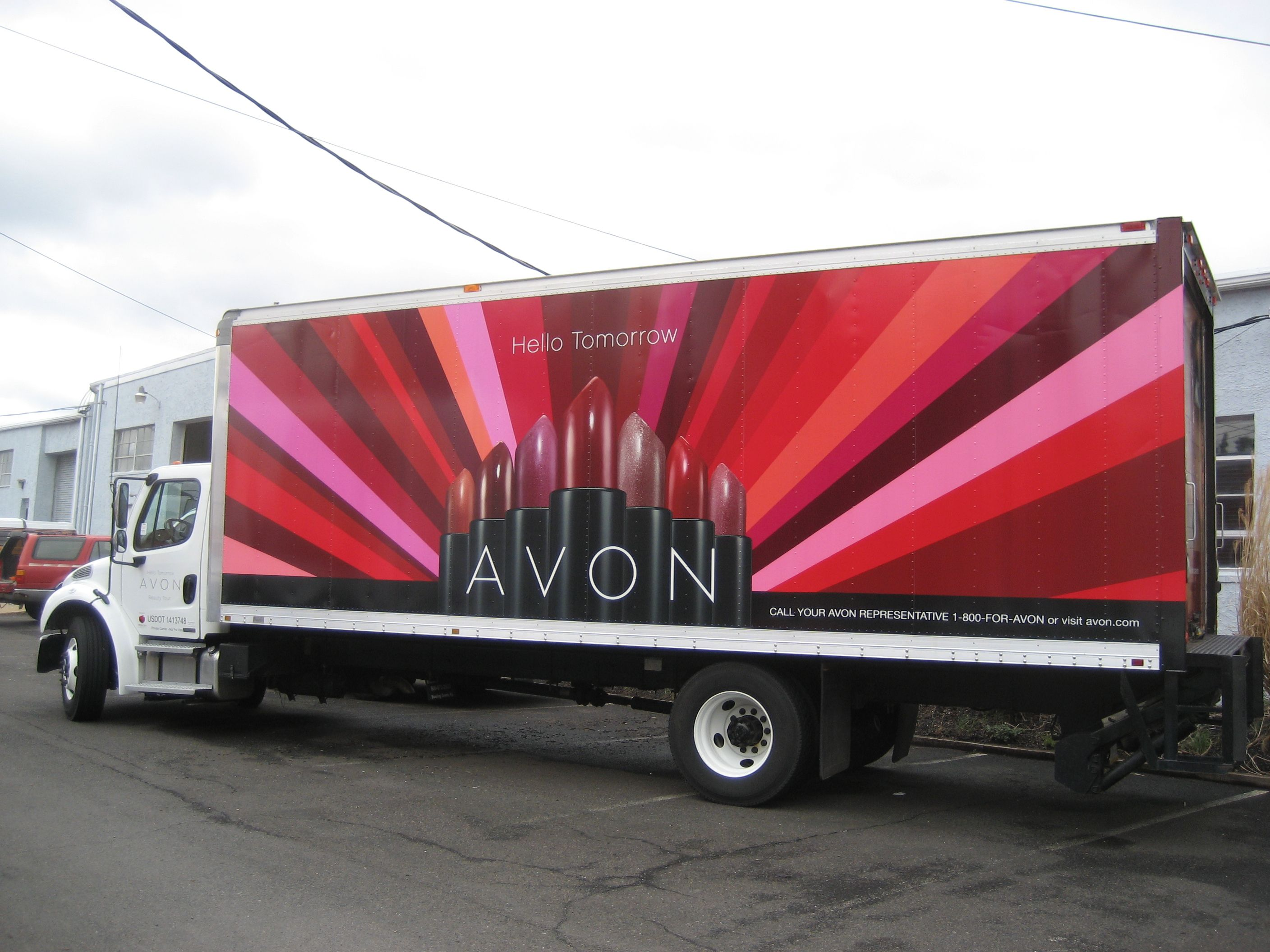 Avon Box Truck Vehicle Graphics Wrap When Other Companies Say