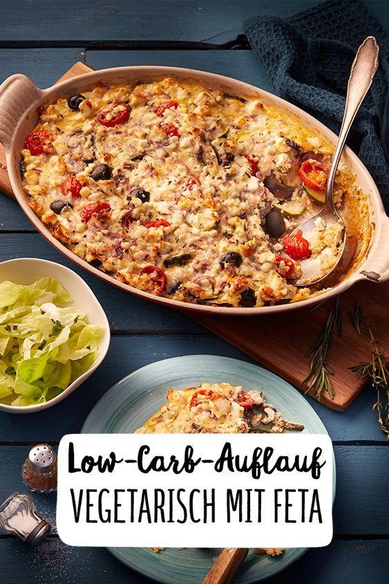 Low-Carb-Aufflauf Vegetarisch mit Feta Low Carb Aufflauf Vegetarisch Feta Abendessen Gratin Auflauf...