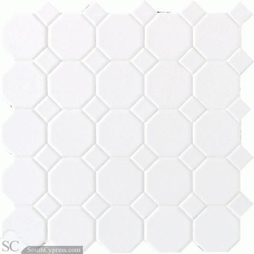 Octagon Dot 12 X 12 White Light Gray Gloss Dot Daltile Octagon Tile Tile Floor