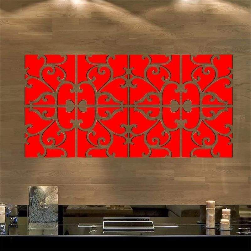 Mirrored Wrought Iron Pattern Wall Decoration (32 Pc) in ...