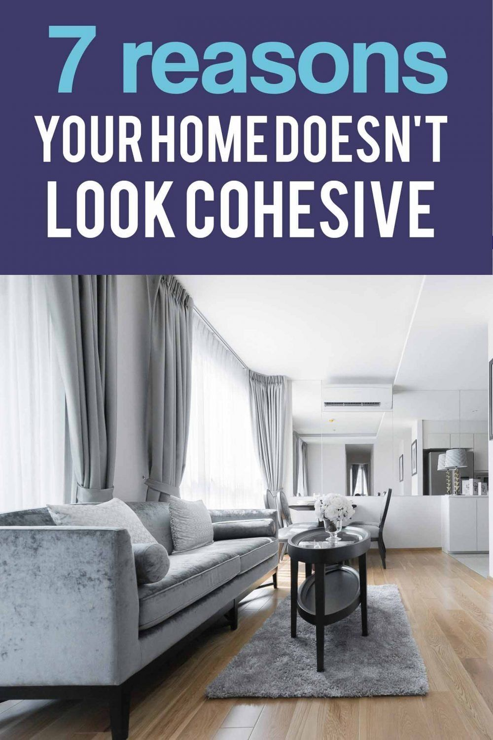 Find some easy ideas and decorating tips for tying together rooms in your home that will make your house look cohesive. #fromhousetohome #homedecorideas #decoratingideas  #decoratingtips #interiordecoratingtips