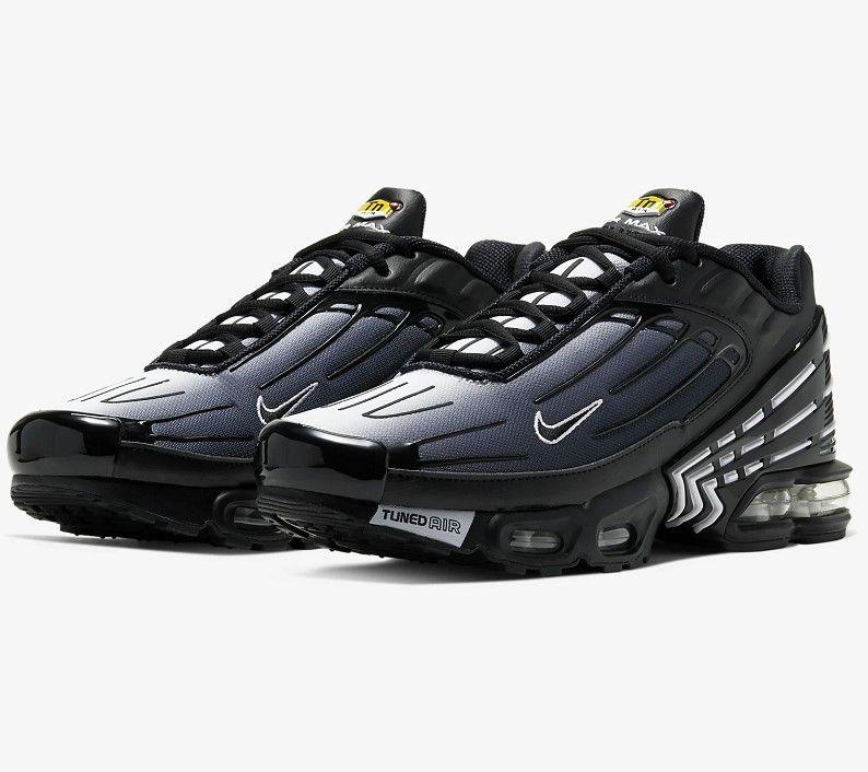Nike Air Max Plus III Noir/Blanc/Noir pas cher - Baskets Homme ...