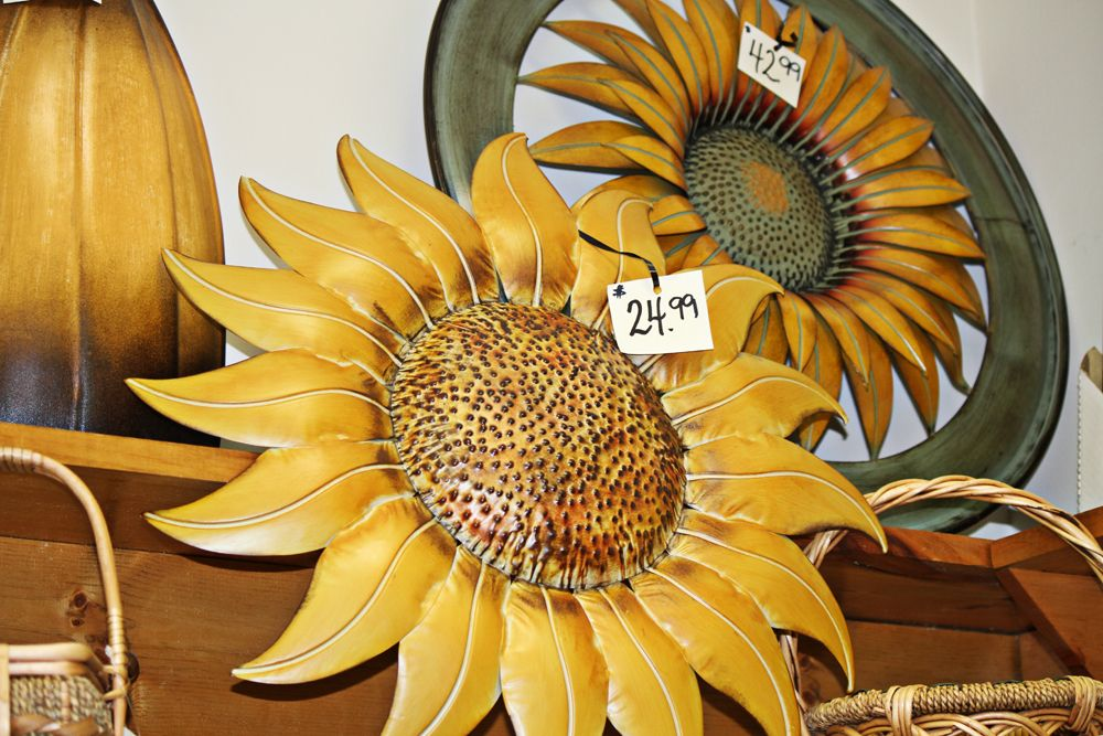 Metal Sunflower Wall Decor | ... humorous plaques wall art butterfly ...
