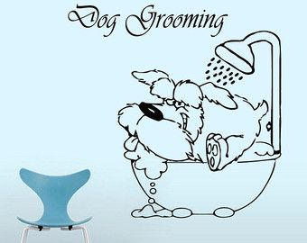 Grooming Salon Wall Decor Pet Grooming Decals Dog Comb Etsy Grooming Salon Pet Grooming Dog Grooming Salons