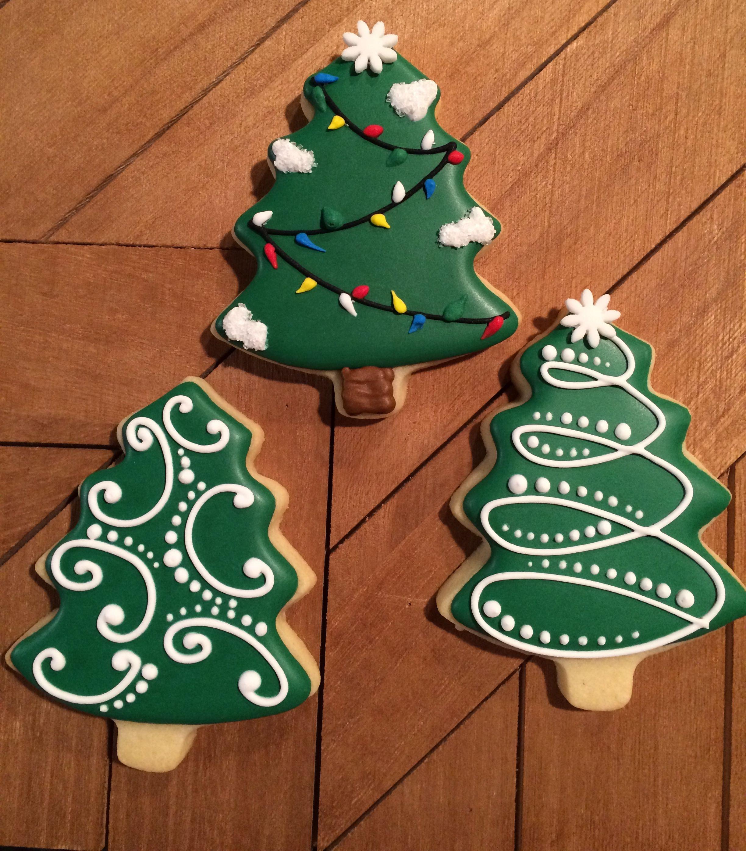 Simple Christmas tree cookies, sugar cookies, Christmas