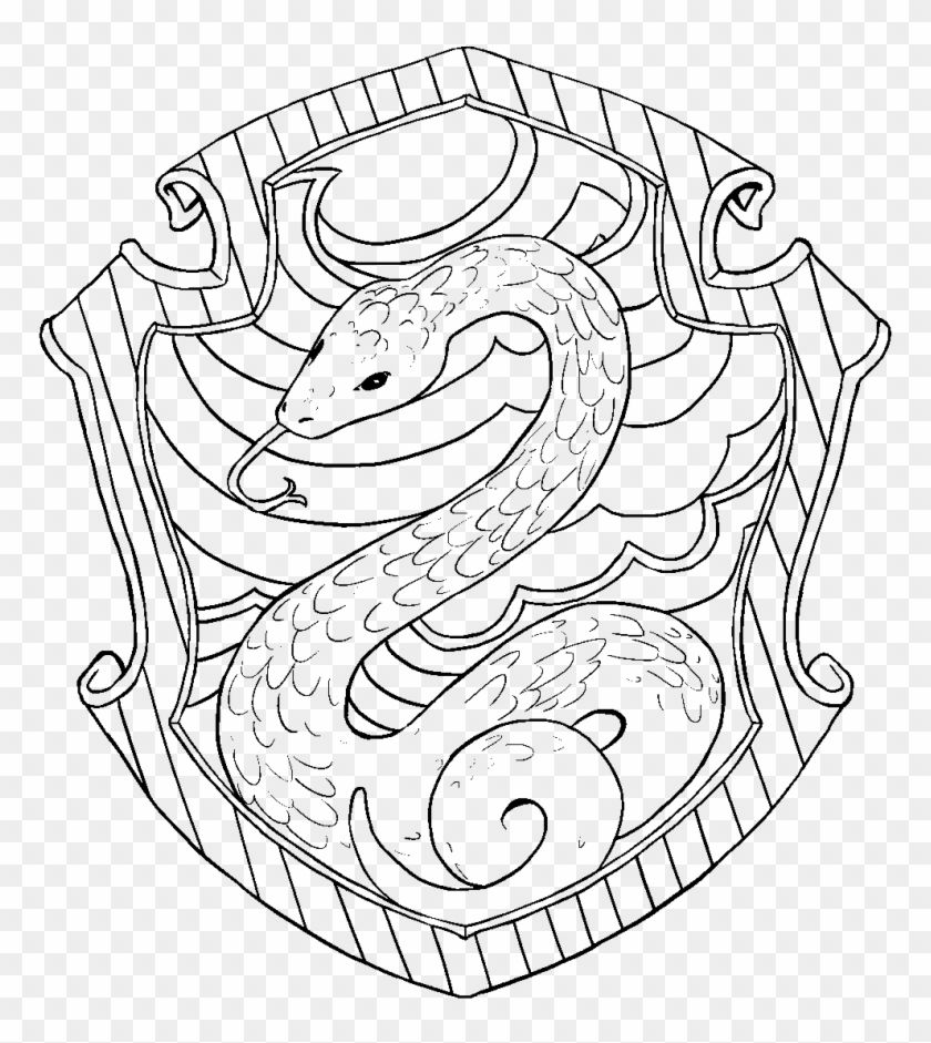 Find Hd Hufflepuff Crest Pottermore Coloring Pages Slytherin