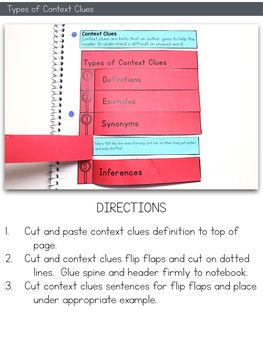 Context Clues Task Cards | tpt context clues interactive | Context ...