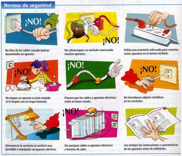 Resultado De Imagen Para Prevencion De Riesgos Electrico Prevencion Tablas De Multiplicar Y Punto De Cruz