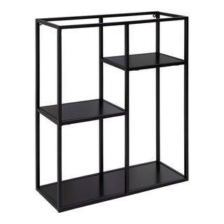 Photo of Kate and Laurel Ulna Floating Wall Shelf – 18x6x22 (Black)(Metal)
