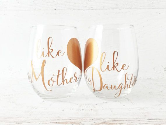 Free A total of 2 pieces are required for the box and additional paper for the panels. Like Mother Like Daughter Stemless Wine Glasses By Redarrowmarket Wine Glasses Gift Wine Glass Sayings Diy Wine Glasses SVG, PNG, EPS, DXF File