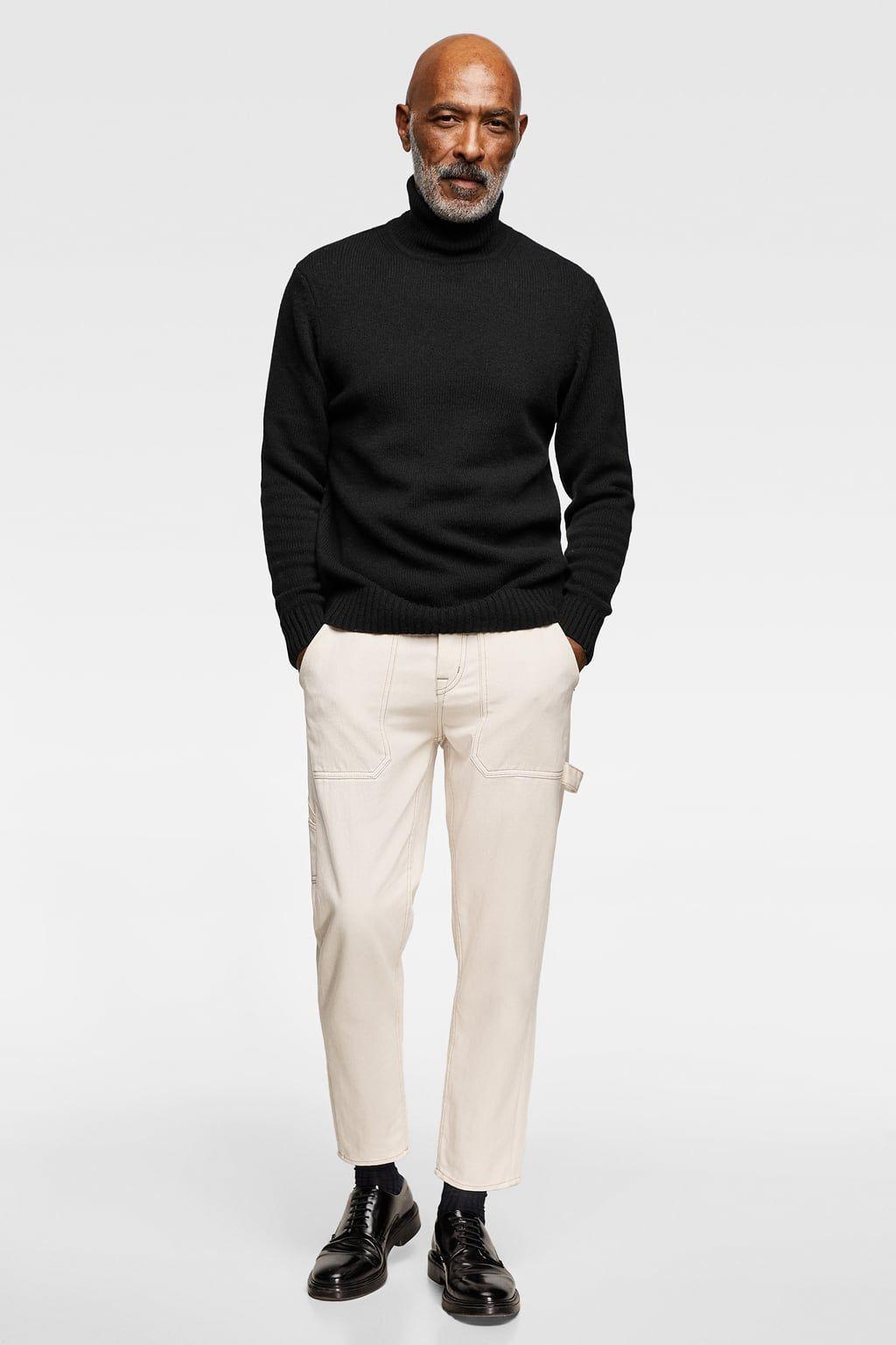 nuova collezione b065b 6522b Immagine 1 di PULLOVER MAGLIA COLLO ALTO di Zara | Moda uomo ...