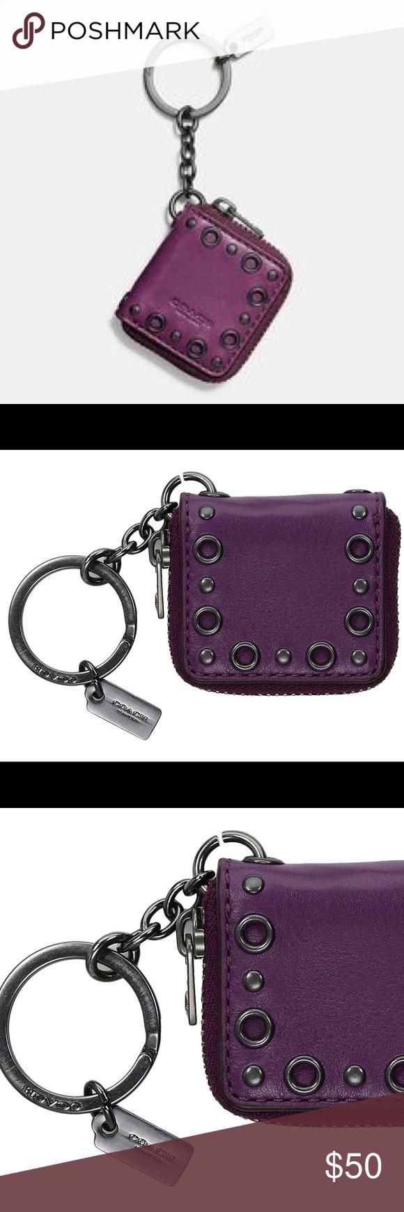 Coach purplish leather picture frame keychain ring key card coach purplish leather picture frame keychain ring jeuxipadfo Image collections