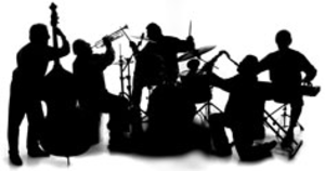 Red Hot Chillies Jazz Band Silhouette Image Vector Clip Art Clip Art Jazz Band Silhouette Images