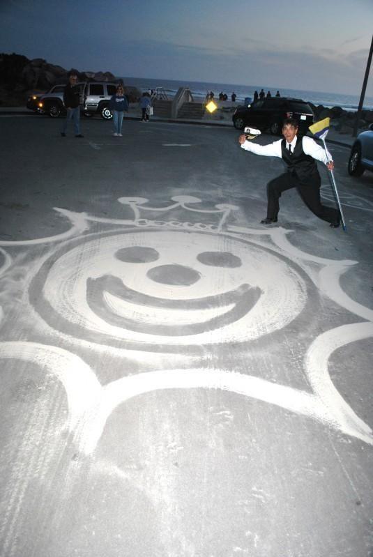 The Sandman, street artist from Coronado