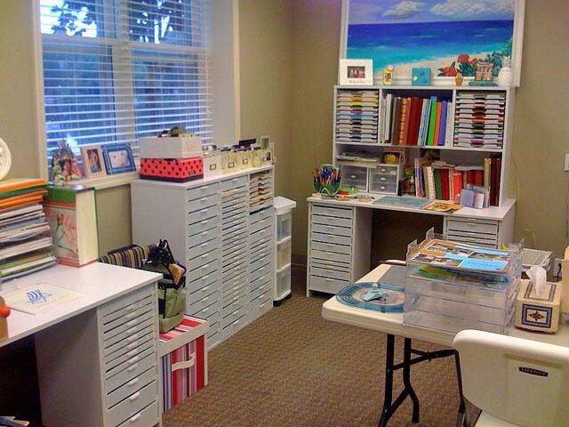 Craft rooms, craft organizing, scrapbooking