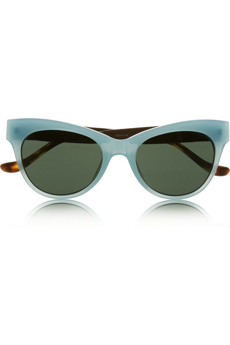 The Row - Cat-eye acetate and leather sunglasses