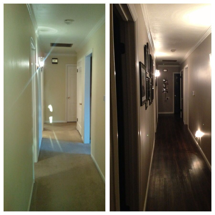 Sherwin williams perfect greige ideas pictures remodel - Hallway Remodel Black Doors New White Gloss Trim And Hardwood Sherwin Williams Sherwin Williams Perfect Greigeblack Doorshallway Ideashouse