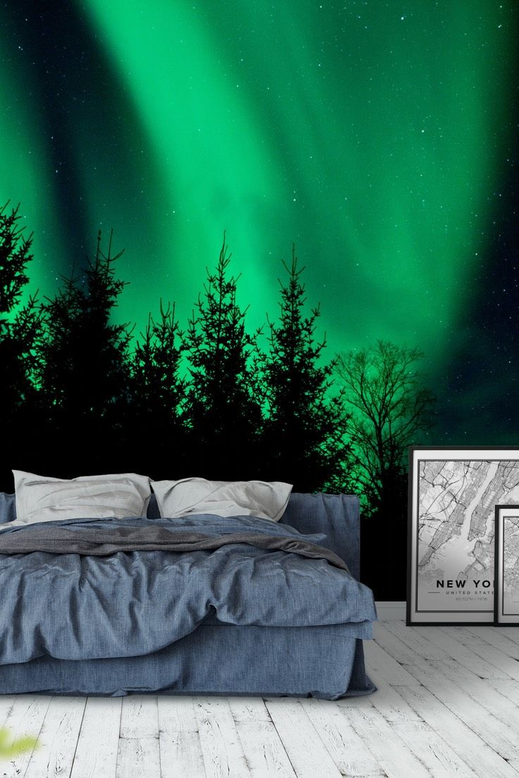 Northern lights Wall mural in 2020 Northern lights