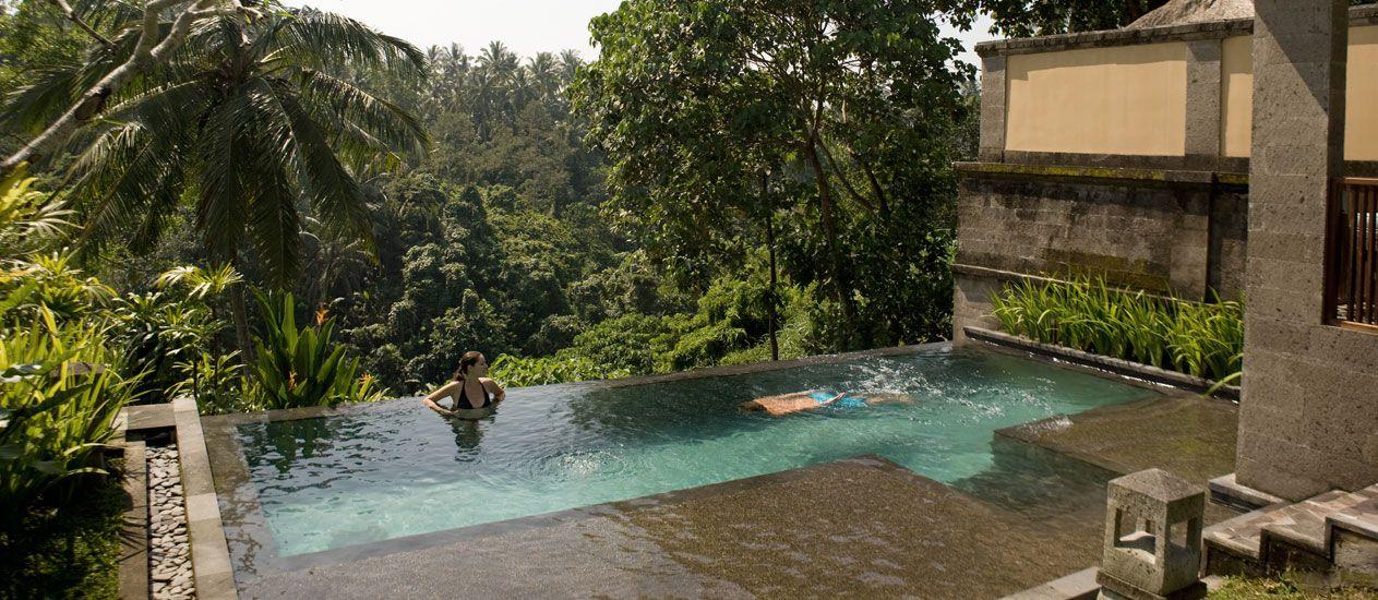 Villa 209 Exterior Deluxe Pool Villa Kamandalu Ubud Bali Resort Villas Pool Bali Resort Valley Pool