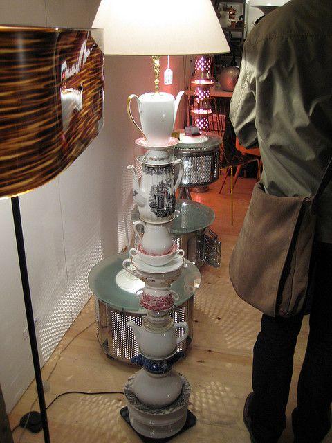Teapots As Floor Lamp Teapot Lamp Tea Pots Teacup Crafts