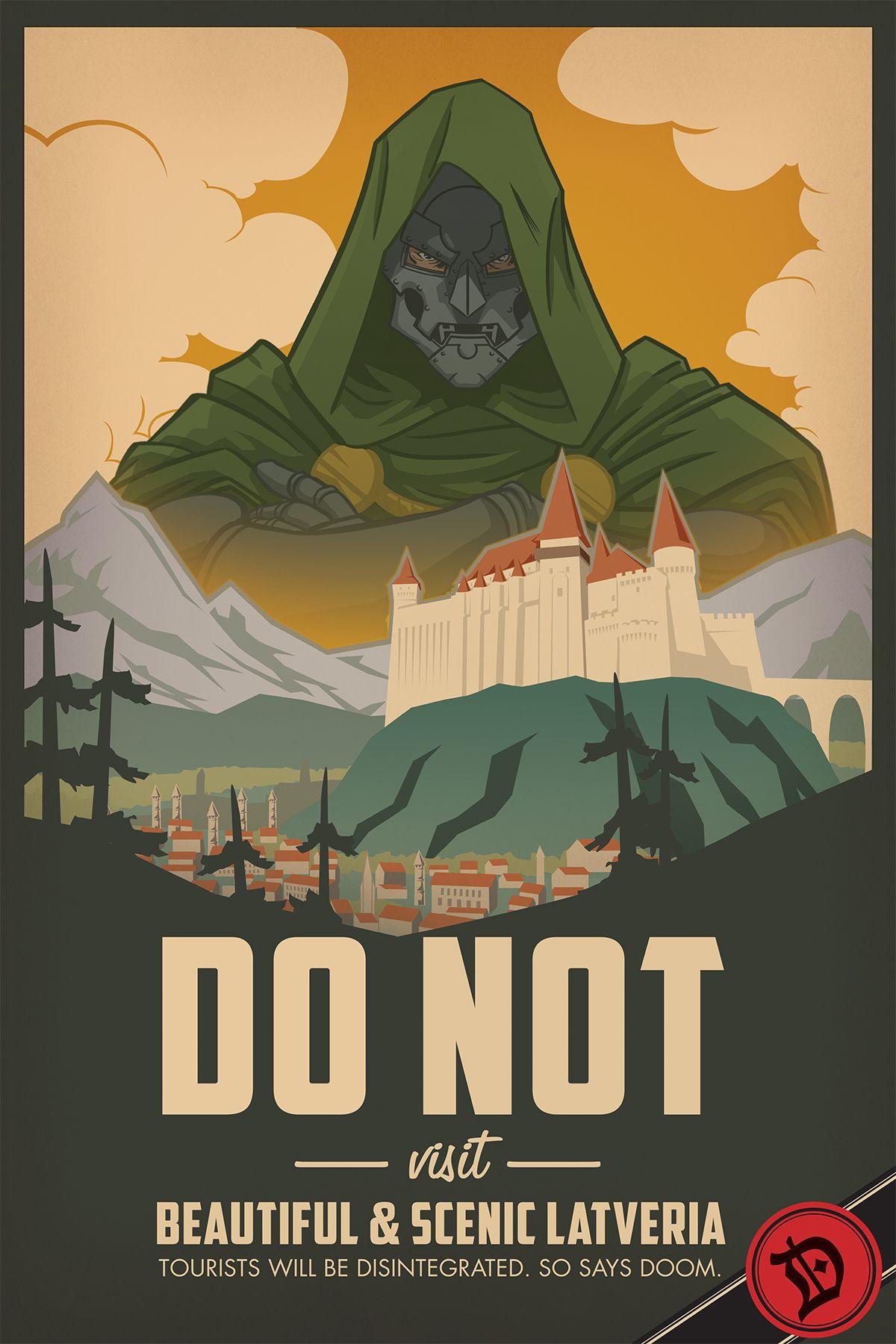 "davidesky2: "" Sean Thornton anti-travel poster for Hero Complex Gallery's Arch Nemesis show, via 411posters. """