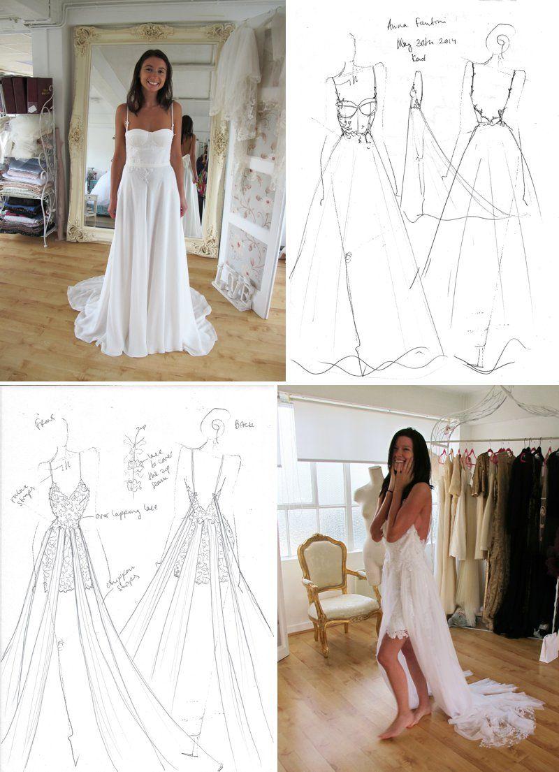 Beautiful Drawings Dresses My Eden Bespoke Wedding