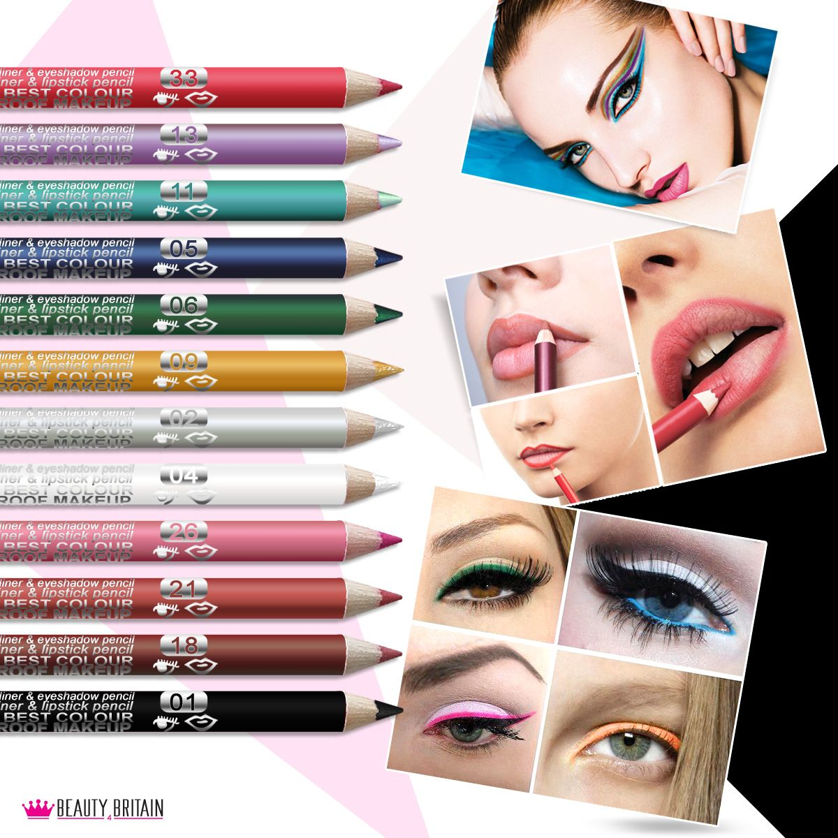 EyeLiner LipLiner Pencils. Many Different Colours