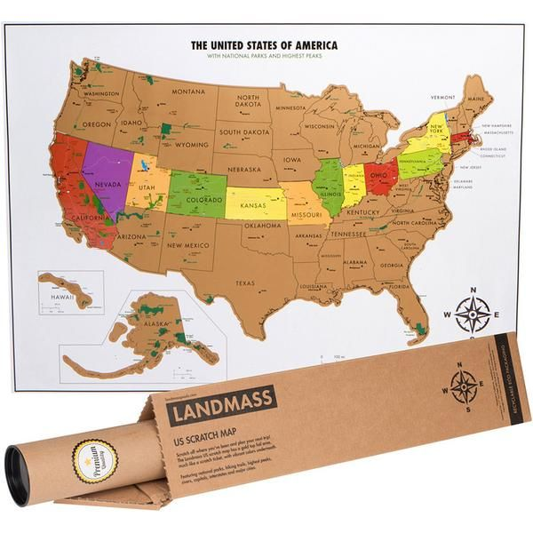 Scratch off USA Map with National Parks Travel Tracker Map Park