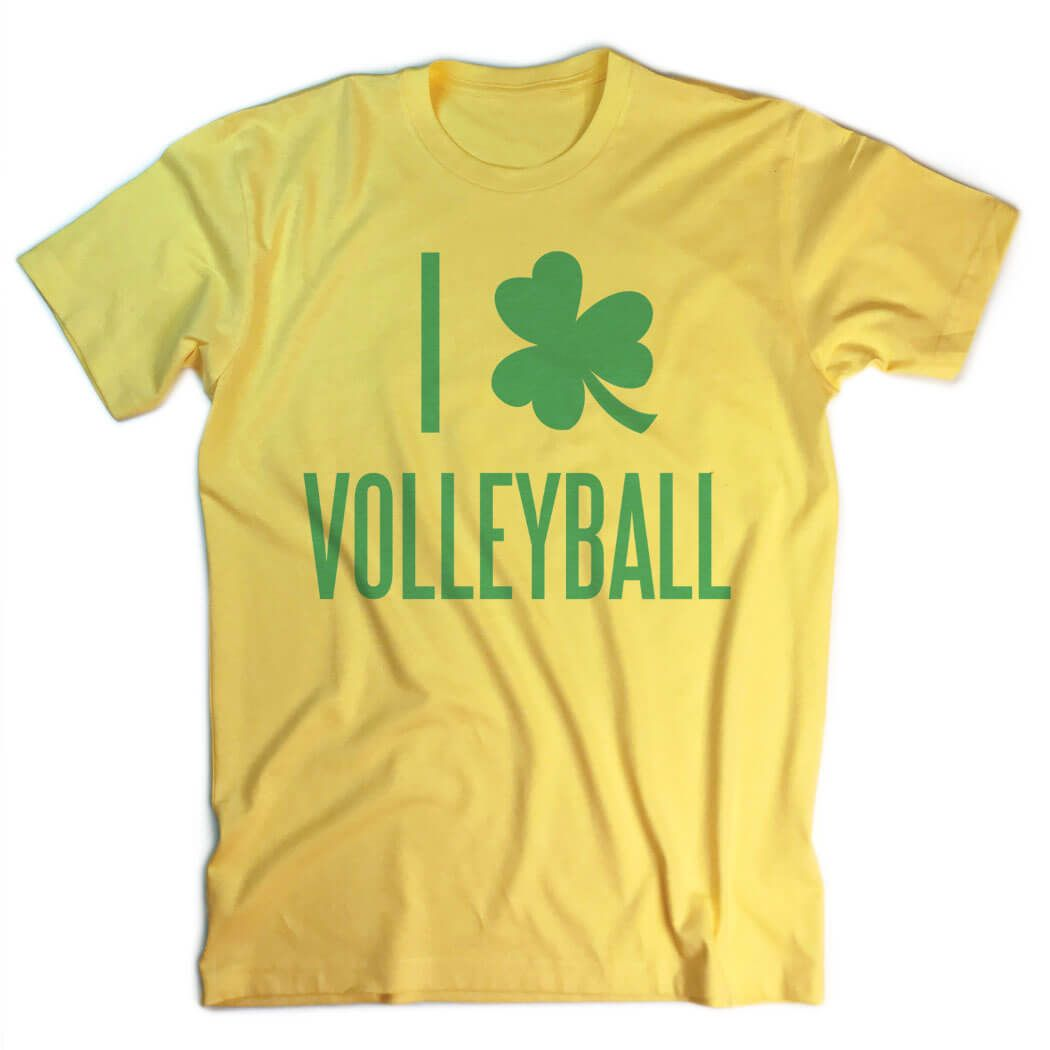 Volleyball Vintage T Shirt I Shamrock Volleyball Yellow Women S M Volleyball St Patrick S Apparel Vintage Tshirts Volleyball Tshirts Vintage Swim
