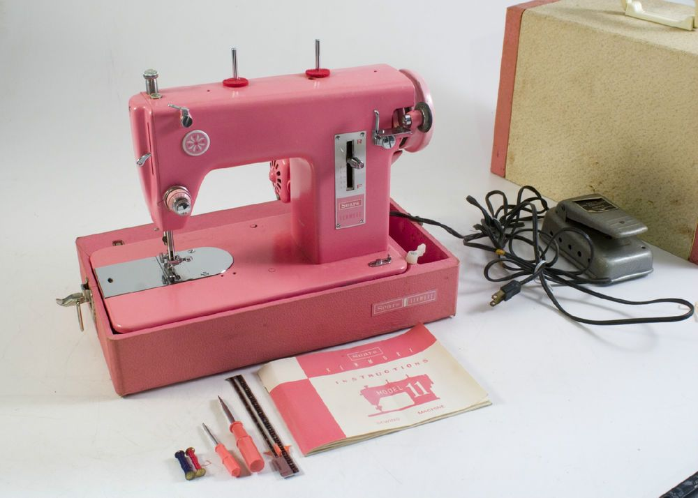 RARE Vtg HOT PINK Sears Kenmore Sewing WORKING Machine SO CUTE 40 Beauteous Who Makes Kenmore Sewing Machines For Sears