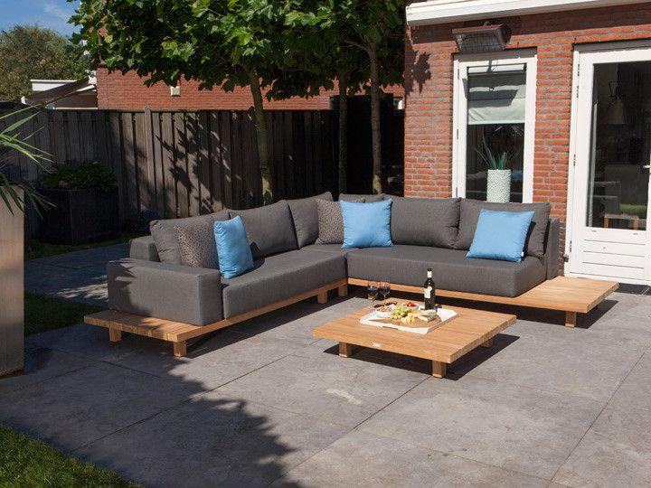 PARADISO Loungegruppe Garten 12 Teilig Exotan | Teakholz U0026 Nanotex Grau  #garten #gartenmöbel #gartensofa #gartenlounge #loungegruppe #sitzgruppe ...