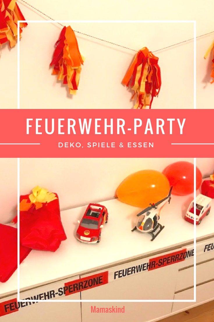 Feuerwehr-Party zum Kindergeburtstag: Deko, Spiele & Essen - Mamaskind