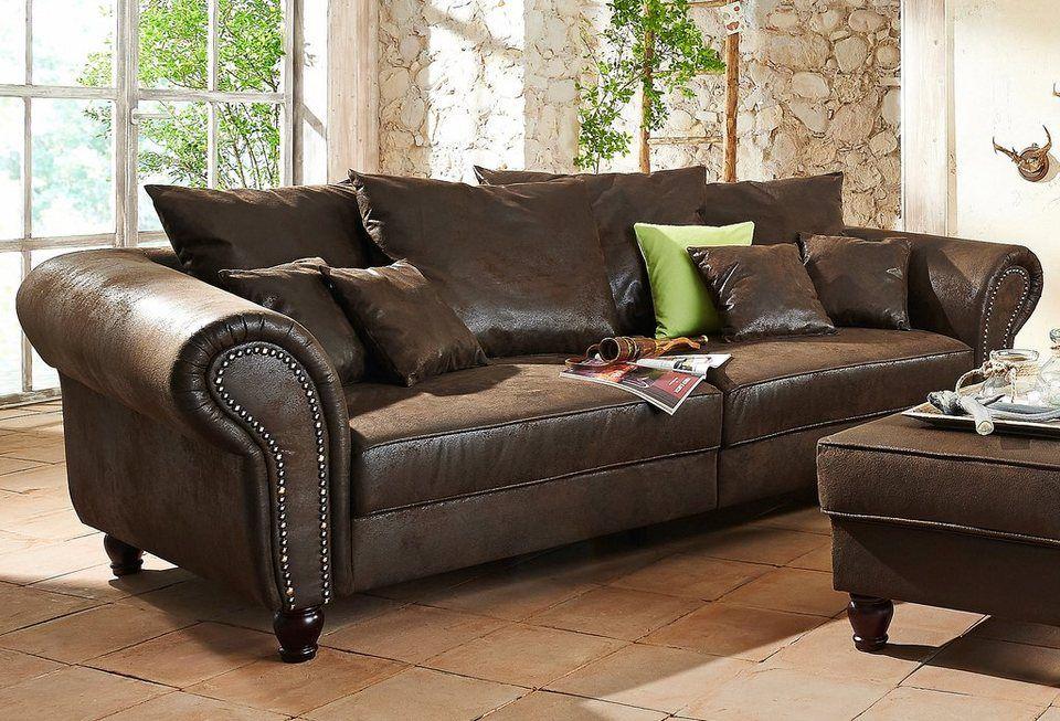 Home Affaire Big Sofa Bigby Ab 729 99 Frei Im Raum Stellbar In Hochwertiger Verarbeitung In Zwei Bezugsvarianten Grosse Sofas Couch Mobel Landhaus Mobel