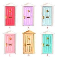 1:12 Dolls House Miniature Wooden Steepletop Door with Hardw…